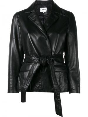 Куртка с запахом Passion Ganni. Цвет: чёрный
