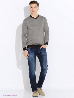Пуловер John Jeniford. Цвет: серый, серо-зеленый, бронзовый