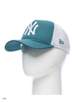Бейсболка New Era. Цвет: зеленый, белый