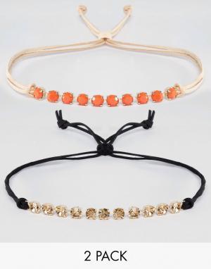 Krystal 2 ожерелья-чокер с кристаллами Swarovski от. Цвет: черный