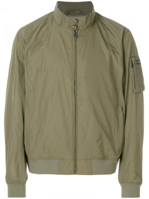 Fitted bomber jacket Hackett. Цвет: зелёный