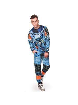 Брюки Vintage Astronaut FUSION. Цвет: черный, оранжевый, синий