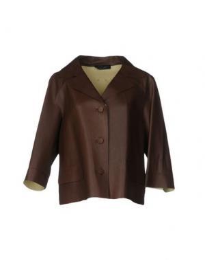 Пиджак TWIN-SET Simona Barbieri. Цвет: темно-коричневый