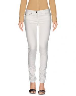 Повседневные брюки ELISABETTA FRANCHI JEANS. Цвет: белый