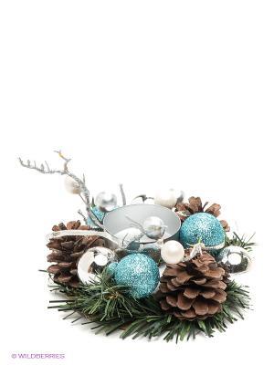 Хвойное украшение Mister Christmas. Цвет: зеленый, коричневый, желтый