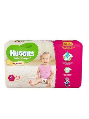Подгузники Ultra Comfort Размер 4 8-14кг 44шт для девочек HUGGIES. Цвет: розовый