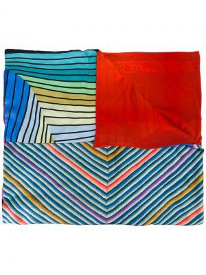 Striped chevron print scarf Pierre-Louis Mascia. Цвет: синий