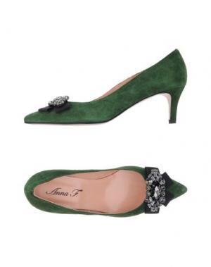 Туфли ANNA F.. Цвет: зеленый