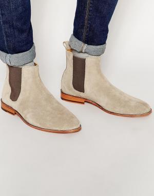 Bobbies Замшевые ботинки челси LHorloger. Цвет: бежевый