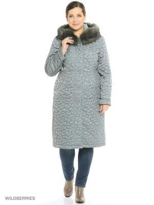 Утепленное пальто MONTSERRAT. Цвет: оливковый, морская волна