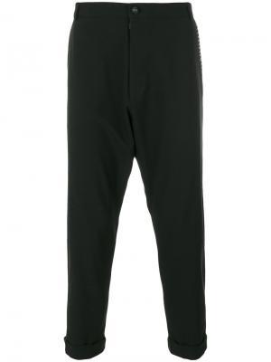 Укороченные брюки  с заниженной проймой Alchemy. Цвет: чёрный