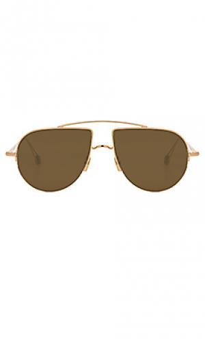 Солнцезащитные очки place d aligre Ahlem. Цвет: металлический золотой