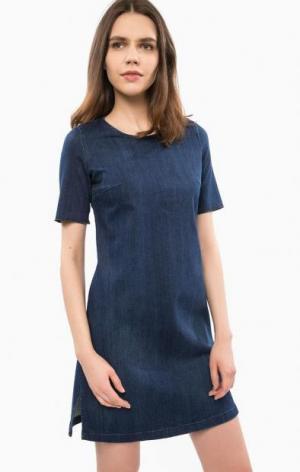 Джинсовое платье с короткими рукавами Liu Jo Jeans. Цвет: синий