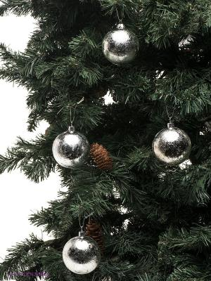 Елочный шар, 4 шт. Mister Christmas. Цвет: серебристый