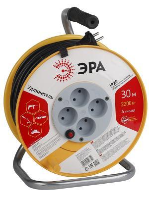 Силовой удлинитель  ЭРА RP-4-2x1.0-30m 30м. Цвет: оранжевый