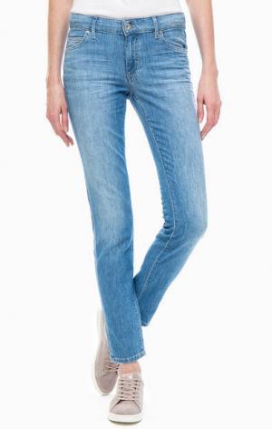 Укороченные джинсы зауженного кроя Marc O'Polo. Цвет: синий