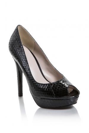 Туфли из кожи питона 160892 Bourne. Цвет: черный