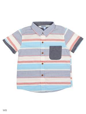 Рубашка Modis. Цвет: молочный, светло-коричневый, серо-голубой