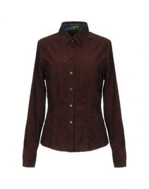Pубашка VAN LAACK. Цвет: темно-коричневый