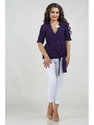 Блузка LIORA. Цвет: фиолетовый