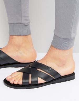 Base London Кожаные сандалии. Цвет: черный