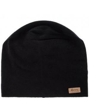 Черная шапка мелкой вязки HERMAN. Цвет: черный