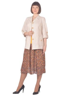 Жакет Томилочка Мода ТМ. Цвет: бежевый
