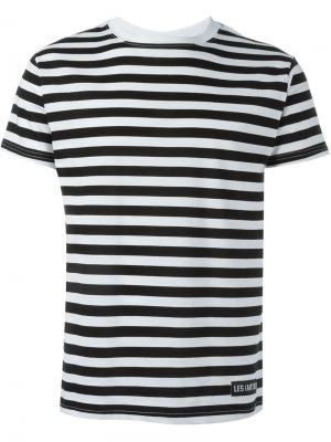 Полосатая футболка Les (Art)Ists. Цвет: чёрный