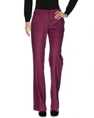Повседневные брюки MAURIZIO PECORARO. Цвет: пурпурный