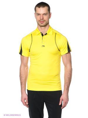 Футболка-поло LI-NING. Цвет: желтый