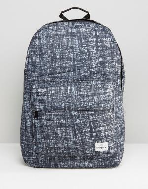 Spiral Черный рюкзак с принтом. Цвет: серый