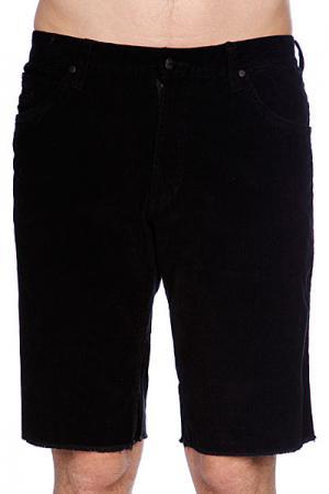 Джинсовые мужские шорты  Cord Short Black Fallen. Цвет: черный