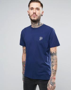 Penfield Темно-синяя футболка с маленьким логотипом Perris. Цвет: темно-синий