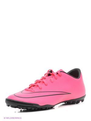 Шиповки MERCURIAL VICTORY V TF Nike. Цвет: розовый, антрацитовый