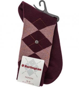 Носки с металлизированной нитью Burlington. Цвет: клетка