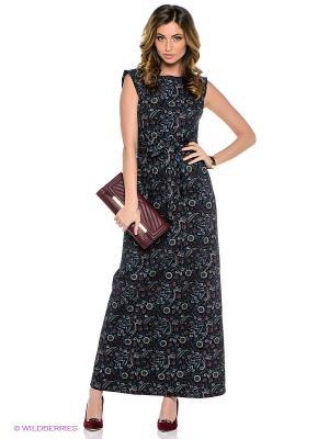 Платье TOPSANDTOPS. Цвет: черный, зеленый