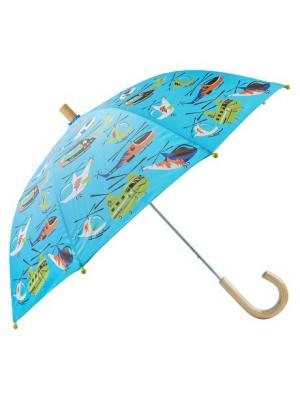 Зонт HATLEY. Цвет: голубой