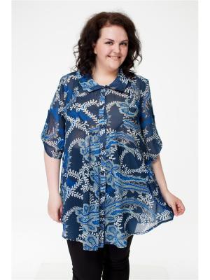 Блузка Pretty Woman. Цвет: серо-голубой