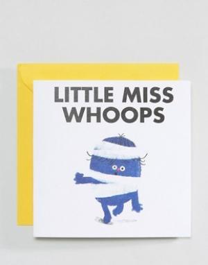 OHH DEER Открытка Little Miss Whoops. Цвет: мульти