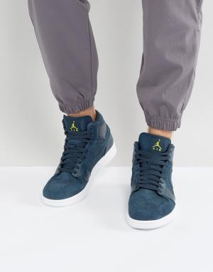 Jordan Средние кроссовки Nike Air 1 554724-421. Цвет: синий