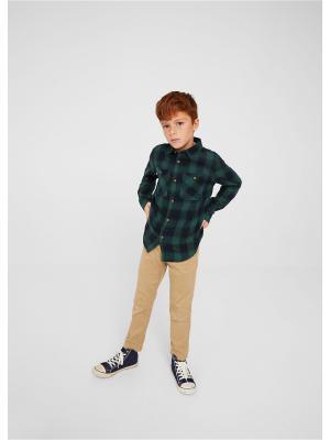 Рубашка - PAUL Mango kids. Цвет: темно-зеленый