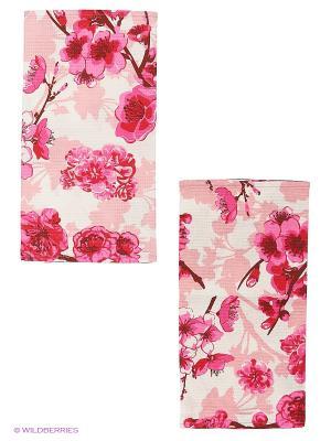 Набор кухонных полотенец 2 шт. Метиз. Цвет: розовый