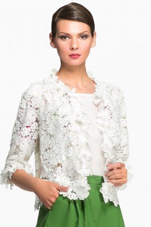 Кружевной жакет 148316 Yanina. Цвет: белый
