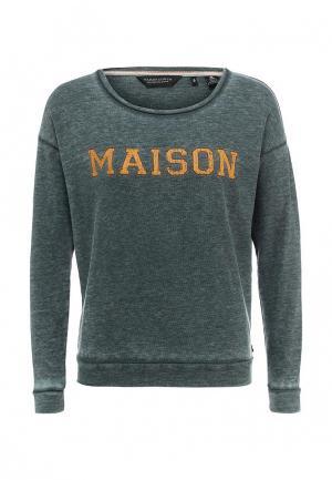 Свитшот Maison Scotch. Цвет: зеленый