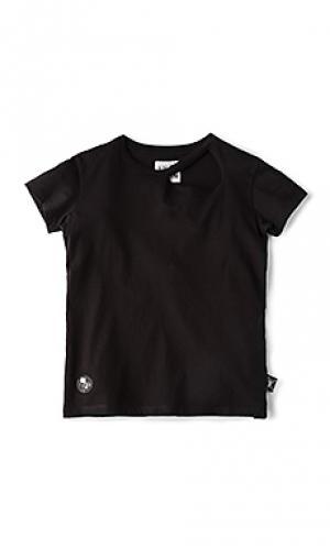 Рваная футболка Nununu. Цвет: черный