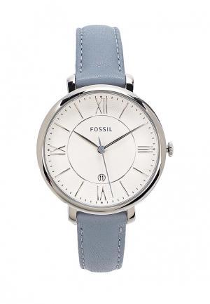 Часы Fossil. Цвет: голубой