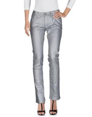 Джинсовые брюки SUPERFINE. Цвет: серебристый