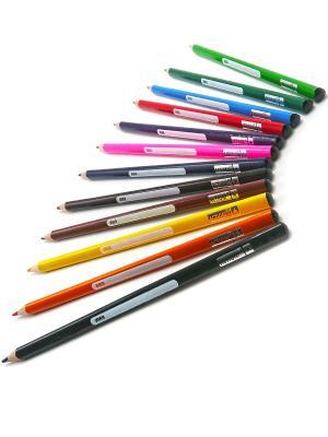 Набор карандашей 12цветов трехгранных Action!. Цвет: белый