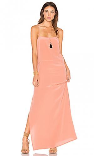 Шелковое платье-комбинация lily AUGUSTE. Цвет: розовый