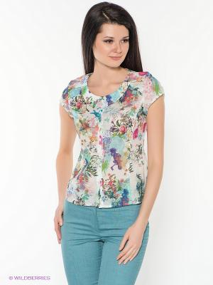 Блузка KEY FASHION. Цвет: белый, зеленый, розовый, фиолетовый